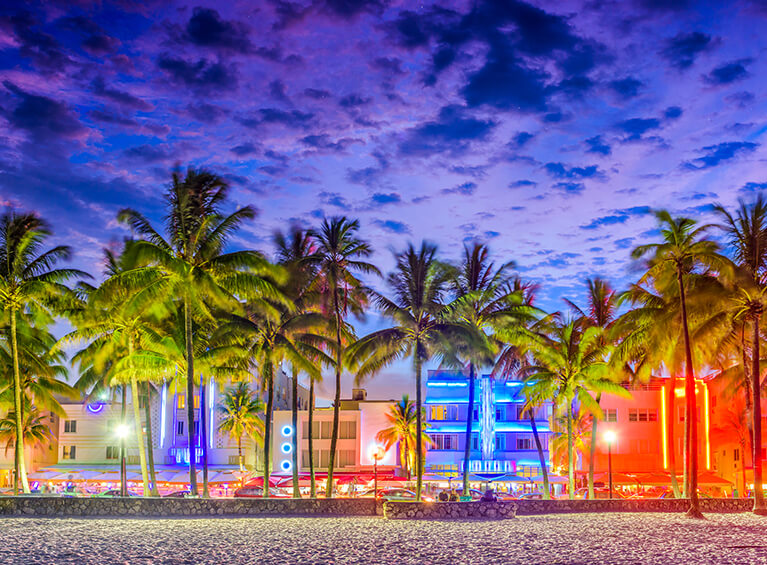 Disfrute las  Playas de Miami